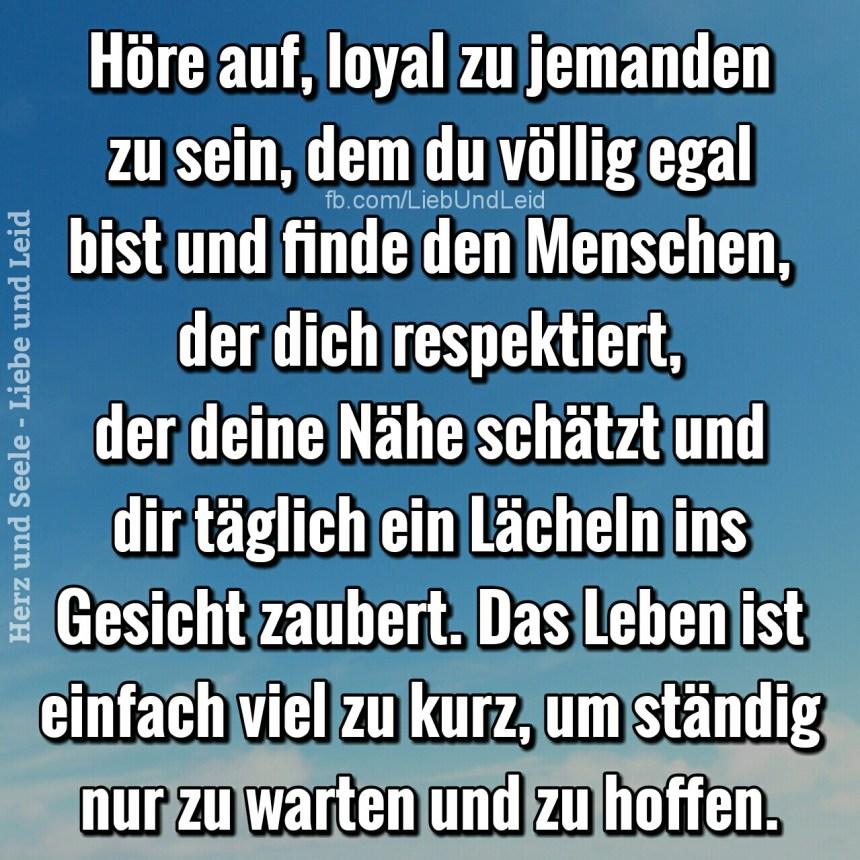 hoere.auf.loyal.zu.jemanden.zu.sein.dem.du.voellig