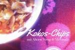 Kokos-Chips gebacken