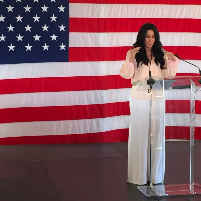 Cher campaigns for Hillary in Provincetown (photo credit: Towleroad.com)