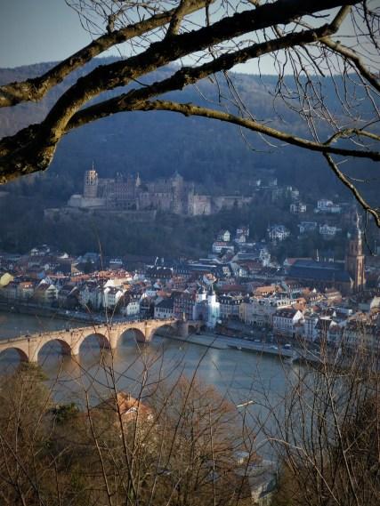 Overlook of Heidelberg from the Philosophenweg (Philosopher's Trail)