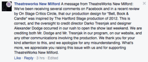 TheatreWorks Facebook post