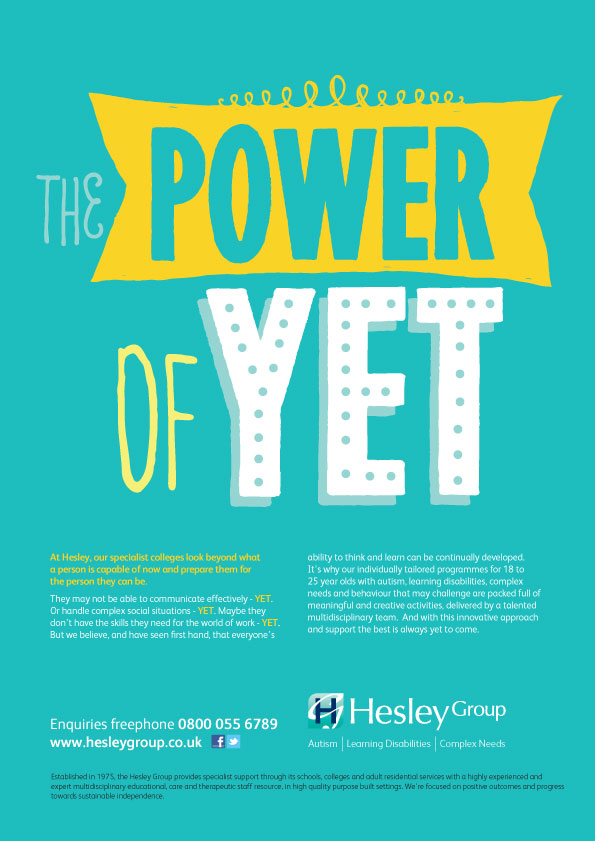 Hesley Group S Power Of Yet Advert