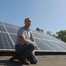 solar array on backup system