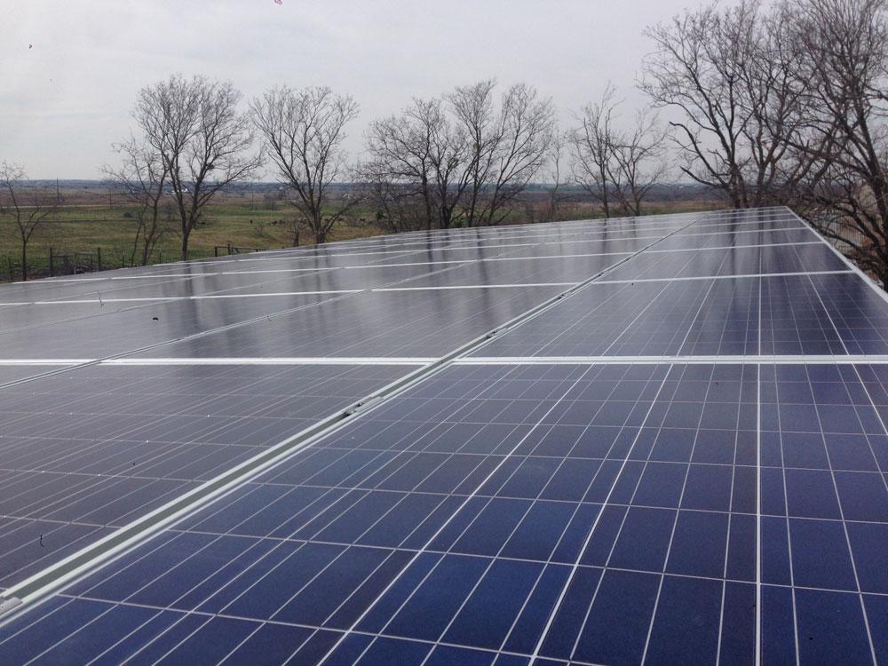 Solar Panels On A Carport