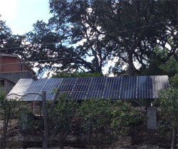 ground mount solar built in to a hill