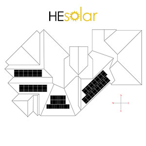Roof layout showing solar panels location