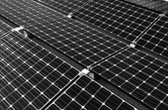 solar panels producing electricity