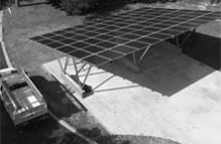 solar carport with aluminum structure