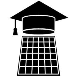 Solar Panel with a graduation cap