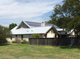 solar on a home in Buda TX