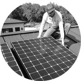 he solar test array comparing sunpower to panasonic and LG solar panels