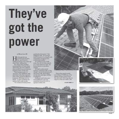 picture of the He Solar article in the Hays Free Press newspaper