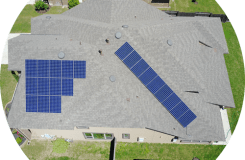 solar array with hidden conduit is standard for HESOLAR solar panel cost in Austin