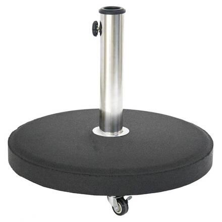 pied de parasol rond a roulettes noir hesperide com