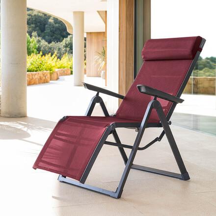 fauteuil de jardin inclinable decima bordeaux graphite hesperide com