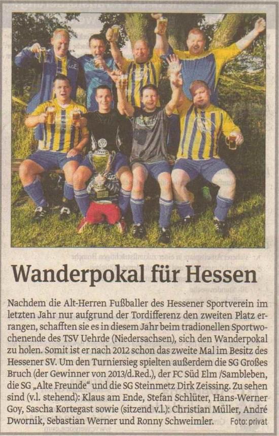 Wanderpokalsieger Alte Herren