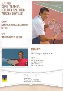 Tennis Aufruf 2