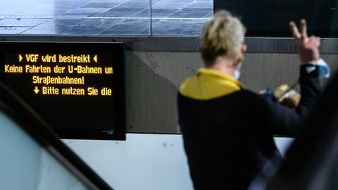 "Scoreboard indicates ""VGF is on strike""."