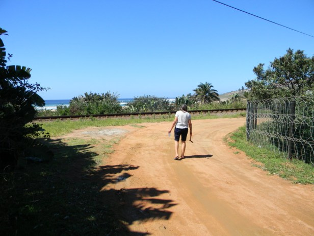 Sandy road leading to the beach