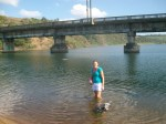 A quick swim in the Fafa river to cool off