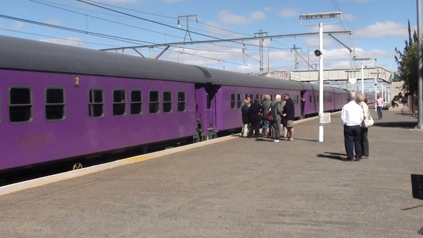 The Premier Classe train in Beaufort-Wes