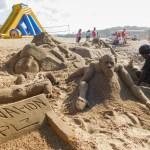 Sand art on St Michaels on Sea Beach in KwaZulu-Natal