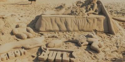 St Michaels on Sea Beach in KwaZulu-Natal sand art damaged by mischievous passersby