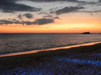 Sunset at Mauritius Club Med La Pointe aux Canonniers