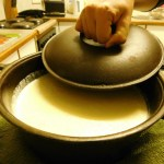 Cast iron pot and lid