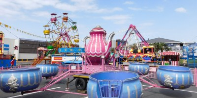 Colorful funfair in Shelly Beach, KwaZulu-Natal