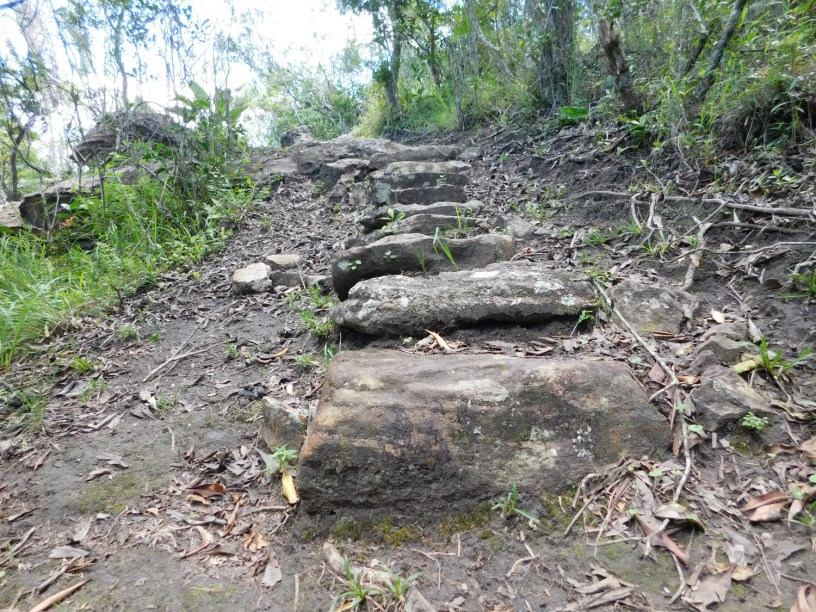 Steps on a hiking trail in the Oribi Gorge