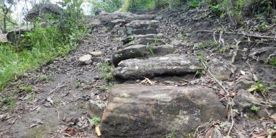Steps on a hiking trail in the Oribi Gorge
