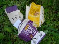 Empty take-away packaging