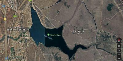 Map of Rietvlei Dam