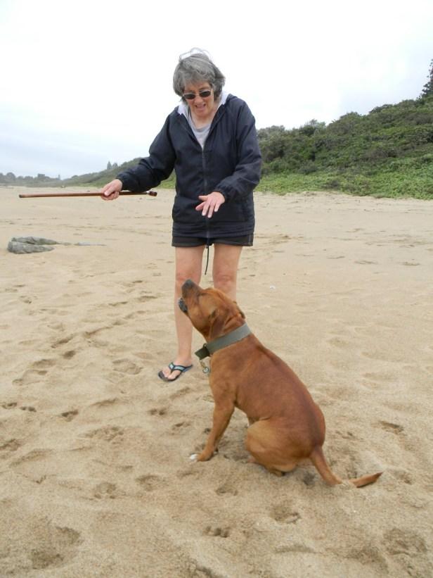 Met Hunter op die strand