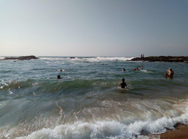 Swimming at Umtentweni beach