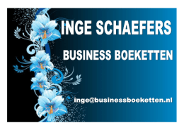 Inge Schaefers Business Boeketten