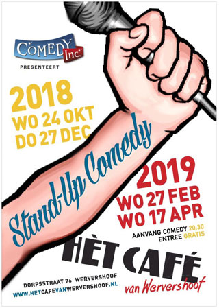 Comedy Show, Wervershoof, Lachen, Cafe