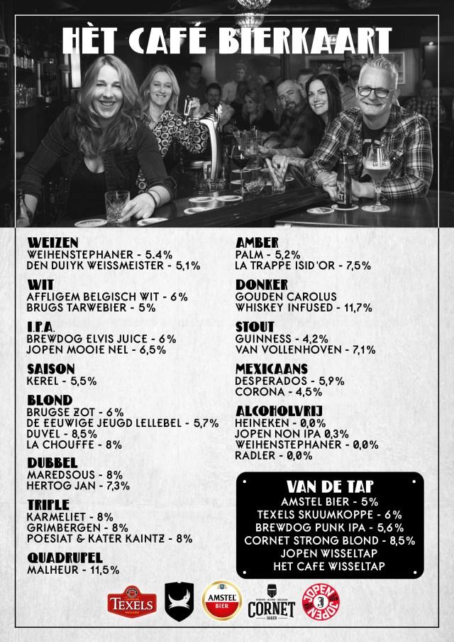 Het Cafe, Wervershoof, Bierkaart, Het Bier- en Muziekcafe van Wervershoof