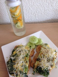 spinazieomelet fruitwater