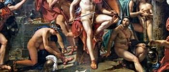 Léonidas aux Thermopyles nu-pieds