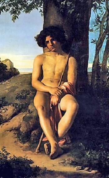 Hippolyte Flandrin, Jeune Berger assis, 1834, musee des Beaux-Arts de Lyon
