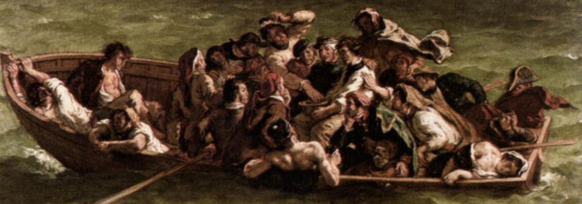 Le Naufrage de Don Juan la barque de don juan Delacroix don giovanni