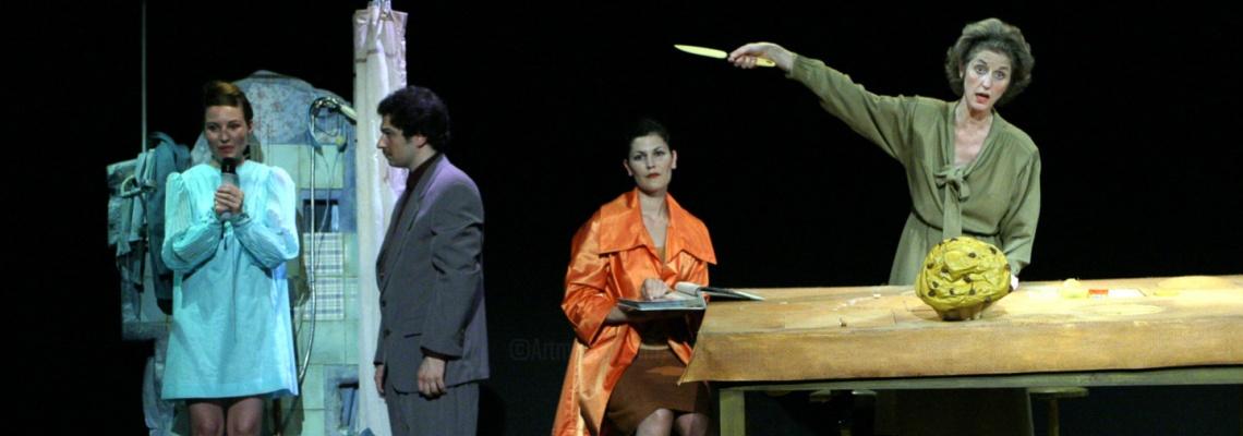 Dans la comédie Moi aussi je suis Catherine Deneuve, Pierre Notte ausculte les problèmes de communication d'une famille en deuil à la MC2 Grenoble.