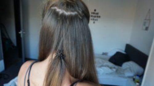 volgende laagje van iris' haar