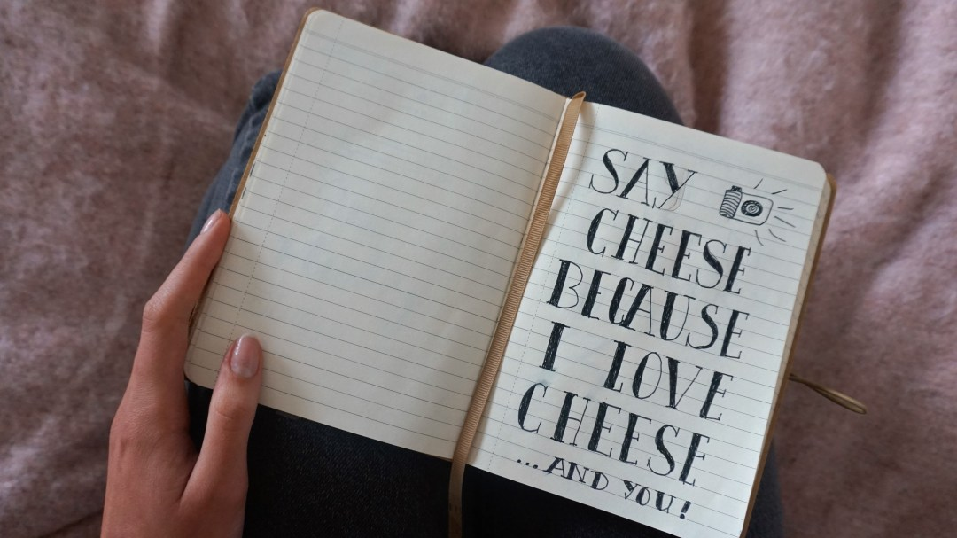 Say cheese because I love cheese and you journal dagboek