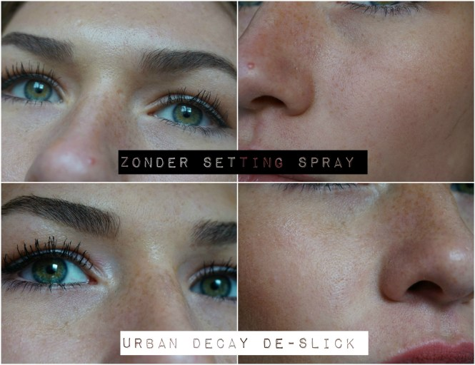 Urban decay setting spray test after 8 uur closeup