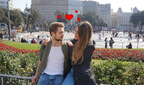 Iris en Bram in Barcelona