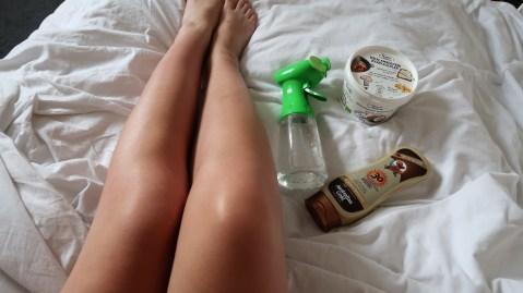 snel bruin worden kokosolie zonnebrand water