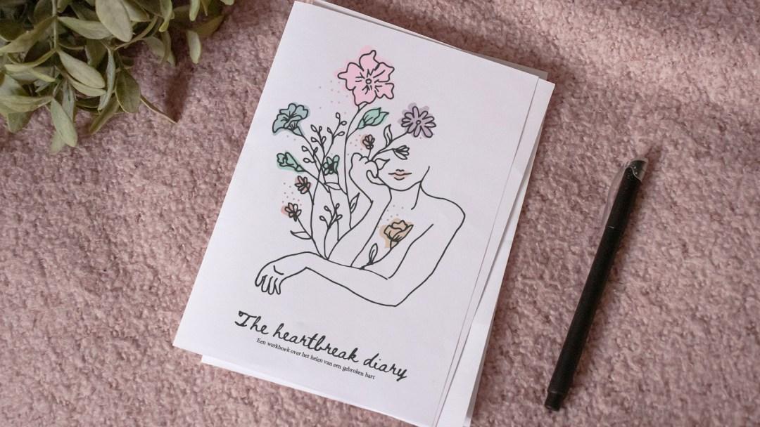 The heartbreak diary werkboek gratis gebroken hart breakup break-up relatiebreuk journal dagboek boekje opdrachten opdrachtenboek quotes printbaar printable free
